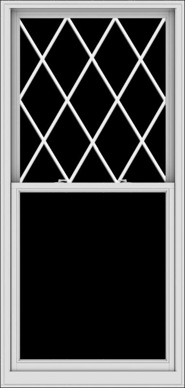 WDMA 40x84 (39.5 x 83.5 inch)  Aluminum Single Double Hung Window with Diamond Grids