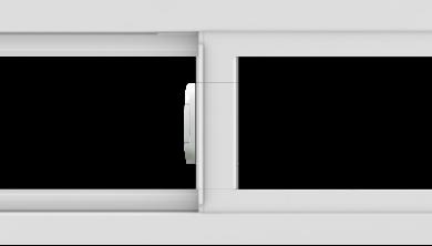 WDMA 42x12 (41.5 x 11.5 inch) Vinyl uPVC White Slide Window without Grids Interior