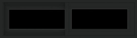 WDMA 42x12 (41.5 x 11.5 inch) Vinyl uPVC Black Slide Window without Grids Exterior