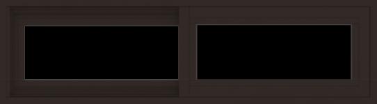 WDMA 42x12 (41.5 x 11.5 inch) Vinyl uPVC Dark Brown Slide Window without Grids Exterior