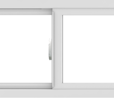 WDMA 42x18 (41.5 x 17.5 inch) Vinyl uPVC White Slide Window without Grids Interior