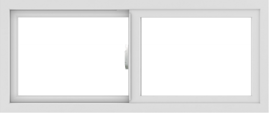 WDMA 42x18 (41.5 x 17.5 inch) Vinyl uPVC White Slide Window without Grids Interior
