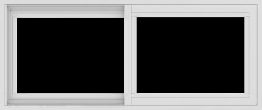 WDMA 42x18 (41.5 x 17.5 inch) Vinyl uPVC White Slide Window without Grids Exterior