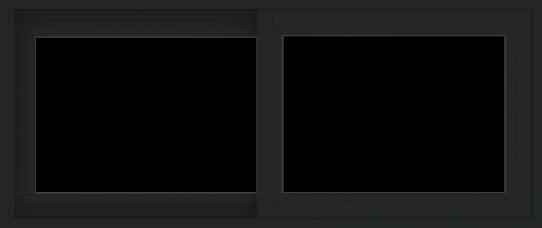 WDMA 42x18 (41.5 x 17.5 inch) Vinyl uPVC Black Slide Window without Grids Exterior
