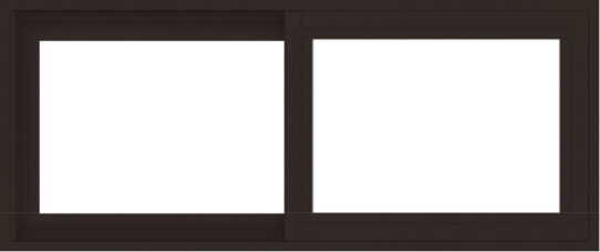 WDMA 42x18 (41.5 x 17.5 inch) Vinyl uPVC Dark Brown Slide Window without Grids Exterior