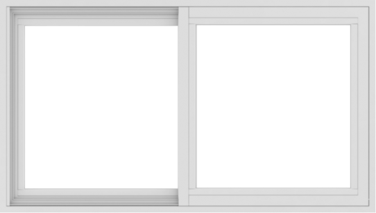 WDMA 42x24 (41.5 x 23.5 inch) Vinyl uPVC White Slide Window without Grids Interior