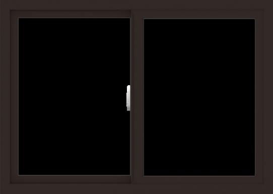 WDMA 42x30 (41.5 x 29.5 inch) Vinyl uPVC Dark Brown Slide Window without Grids Interior