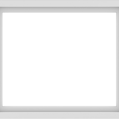 WDMA 42x36 (41.5 x 35.5 inch) Vinyl uPVC White Picture Window without Grids-1