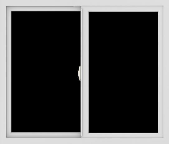 WDMA 42x36 (41.5 x 35.5 inch) Vinyl uPVC White Slide Window without Grids Interior