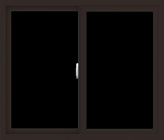 WDMA 42x36 (41.5 x 35.5 inch) Vinyl uPVC Dark Brown Slide Window without Grids Interior