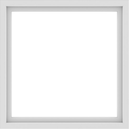 WDMA 42x42 (41.5 x 41.5 inch) Vinyl uPVC White Picture Window without Grids-1
