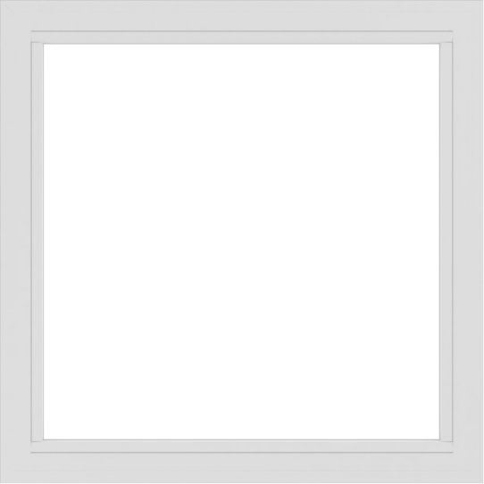 WDMA 42x42 (41.5 x 41.5 inch) Vinyl uPVC White Picture Window without Grids-2