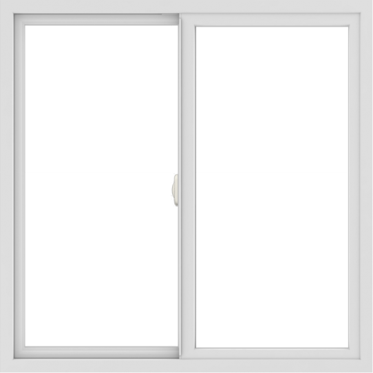 WDMA 42x42 (41.5 x 41.5 inch) Vinyl uPVC White Slide Window without Grids Interior