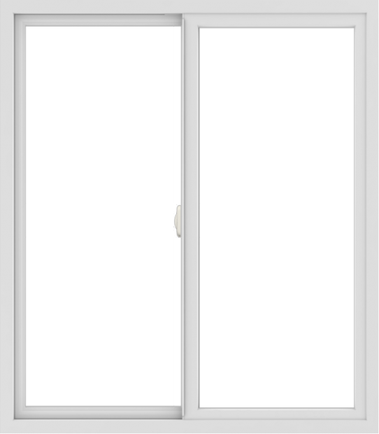 WDMA 42x48 (41.5 x 47.5 inch) Vinyl uPVC White Slide Window without Grids Interior