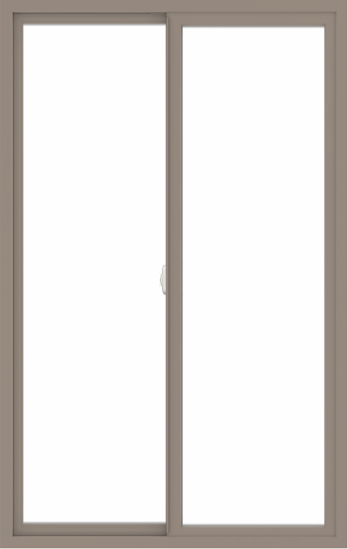 WDMA 42x66 (41.5 x 65.5 inch) Vinyl uPVC Brown Slide Window without Grids Interior