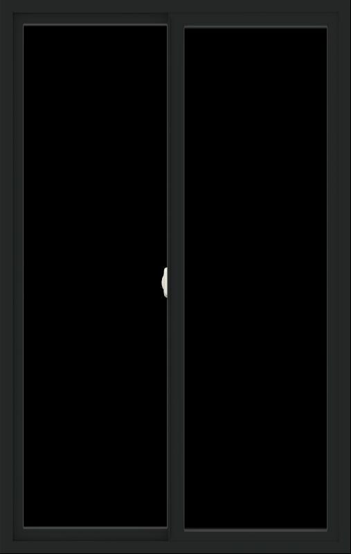 WDMA 42x66 (41.5 x 65.5 inch) Vinyl uPVC Black Slide Window without Grids Interior