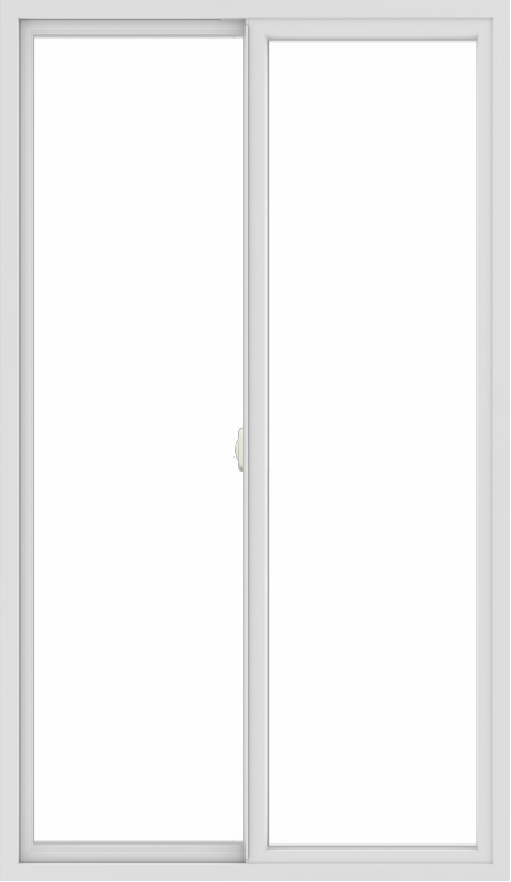 WDMA 42x72 (41.5 x 71.5 inch) Vinyl uPVC White Slide Window without Grids Interior