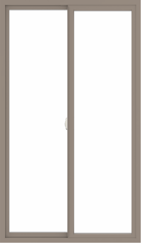 WDMA 42x72 (41.5 x 71.5 inch) Vinyl uPVC Brown Slide Window without Grids Interior