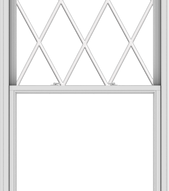WDMA 44x102 (43.5 x 101.5 inch)  Aluminum Single Double Hung Window with Diamond Grids