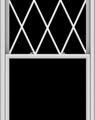 WDMA 44x114 (43.5 x 113.5 inch)  Aluminum Single Double Hung Window with Diamond Grids