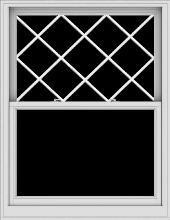 WDMA 44x57 (43.5 x 56.5 inch)  Aluminum Single Double Hung Window with Diamond Grids
