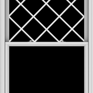 WDMA 44x60 (43.5 x 59.5 inch)  Aluminum Single Double Hung Window with Diamond Grids