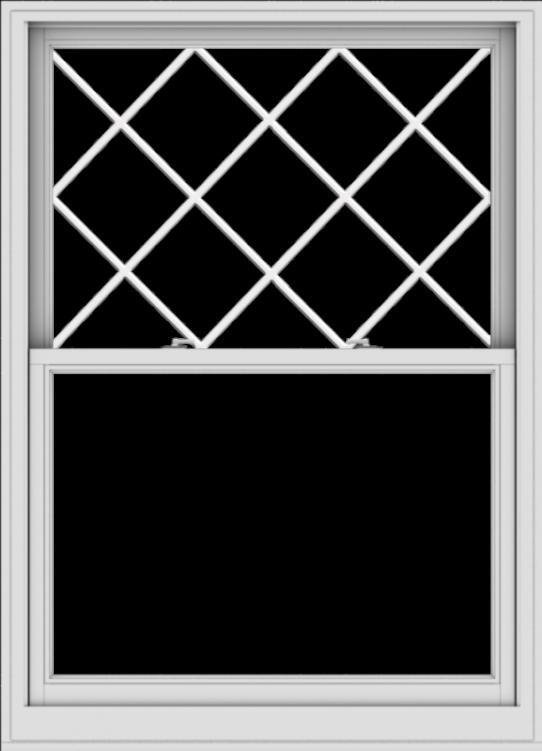 WDMA 44x61 (43.5 x 60.5 inch)  Aluminum Single Double Hung Window with Diamond Grids