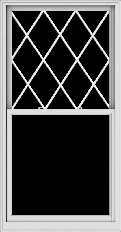 WDMA 44x84 (43.5 x 83.5 inch)  Aluminum Single Double Hung Window with Diamond Grids