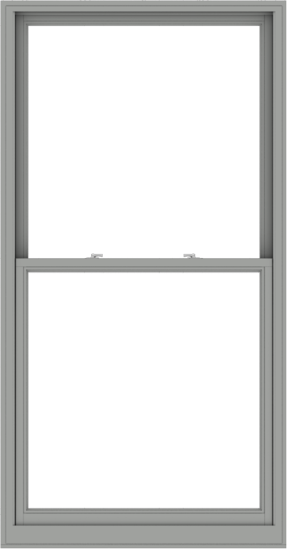 WDMA 44x84 (43.5 x 83.5 inch)  Aluminum Single Double Hung Window without Grids-1