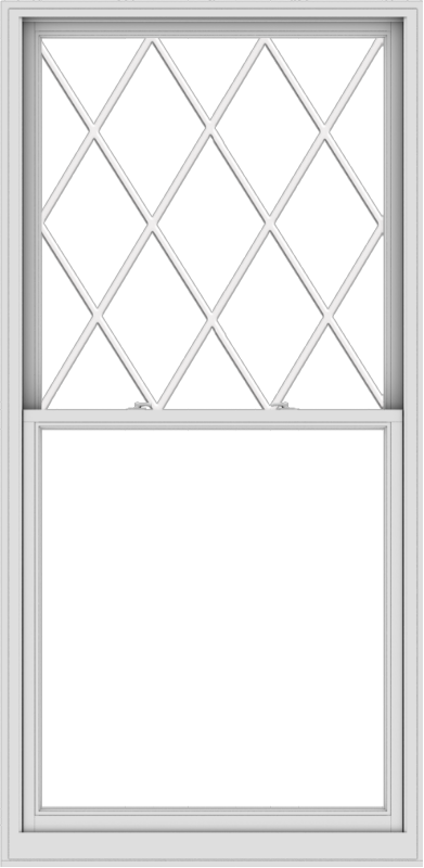 WDMA 44x90 (43.5 x 89.5 inch)  Aluminum Single Double Hung Window with Diamond Grids