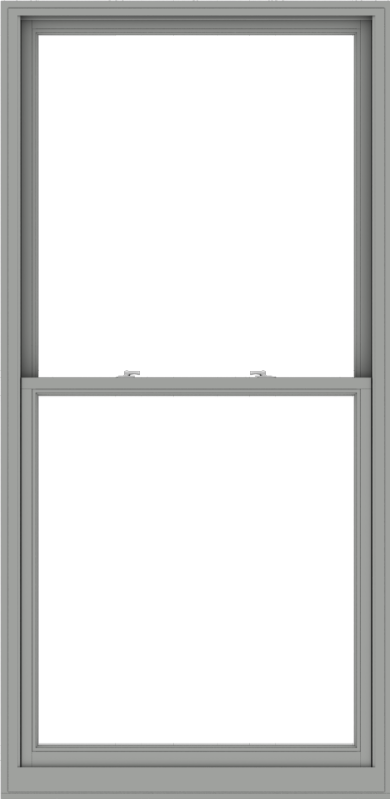 WDMA 44x90 (43.5 x 89.5 inch)  Aluminum Single Double Hung Window without Grids-1