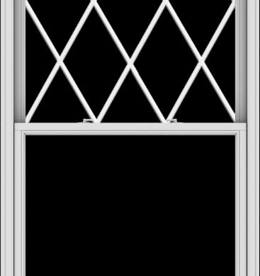 WDMA 44x96 (43.5 x 95.5 inch)  Aluminum Single Double Hung Window with Diamond Grids