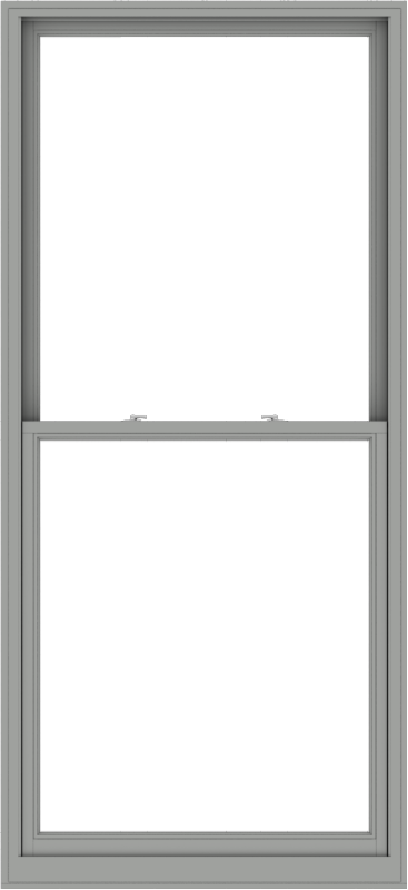 WDMA 44x96 (43.5 x 95.5 inch)  Aluminum Single Double Hung Window without Grids-1