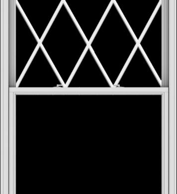 WDMA 48x108 (47.5 x 107.5 inch)  Aluminum Single Double Hung Window with Diamond Grids