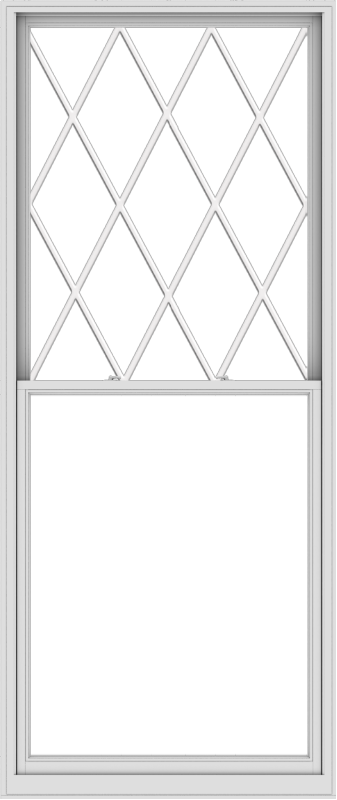WDMA 48x114 (47.5 x 113.5 inch)  Aluminum Single Double Hung Window with Diamond Grids