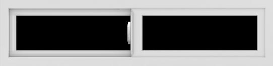 WDMA 48x12 (47.5 x 11.5 inch) Vinyl uPVC White Slide Window without Grids Interior