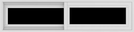 WDMA 48x12 (47.5 x 11.5 inch) Vinyl uPVC White Slide Window without Grids Exterior