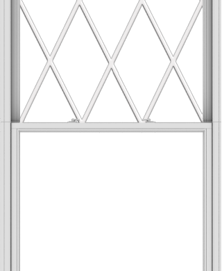 WDMA 48x120 (47.5 x 119.5 inch)  Aluminum Single Double Hung Window with Diamond Grids