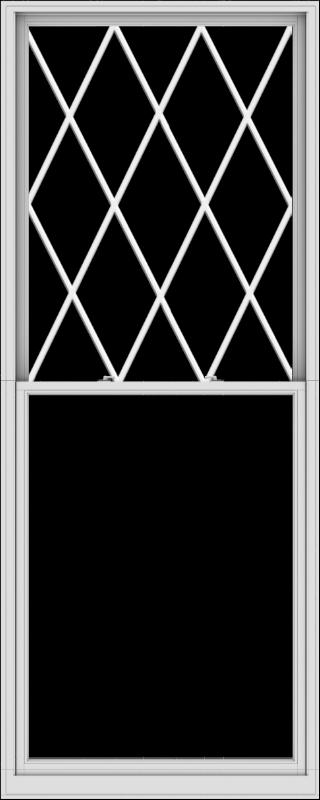 WDMA 48x120 (47.5 x 119.5 inch)  Aluminum Single Double Hung Window with Diamond Grids