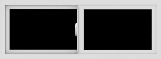 WDMA 48x18 (47.5 x 17.5 inch) Vinyl uPVC White Slide Window without Grids Interior
