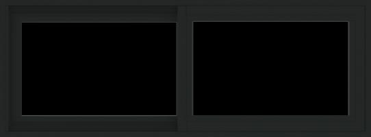 WDMA 48x18 (47.5 x 17.5 inch) Vinyl uPVC Black Slide Window without Grids Exterior
