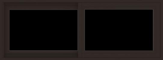 WDMA 48x18 (47.5 x 17.5 inch) Vinyl uPVC Dark Brown Slide Window without Grids Exterior