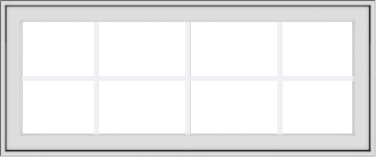 WDMA 48x20 (47.5 x 19.5 inch) White Vinyl uPVC Crank out Awning Window with Colonial Grids Exterior