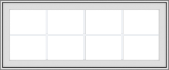 WDMA 48x20 (47.5 x 19.5 inch) White uPVC Vinyl Push out Awning Window with Colonial Grids Exterior