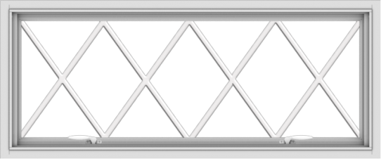 WDMA 48x20 (47.5 x 19.5 inch) White uPVC Vinyl Push out Awning Window without Grids with Victorian Grills
