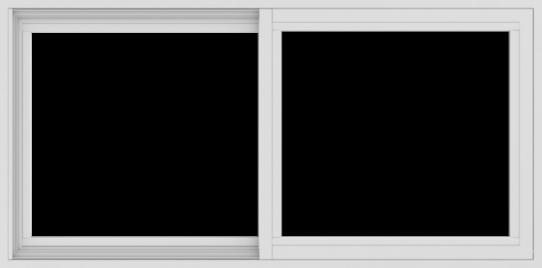 WDMA 48x24 (47.5 x 23.5 inch) Vinyl uPVC White Slide Window without Grids Interior
