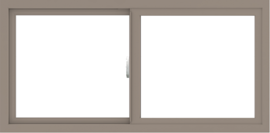 WDMA 48x24 (47.5 x 23.5 inch) Vinyl uPVC Brown Slide Window without Grids Interior