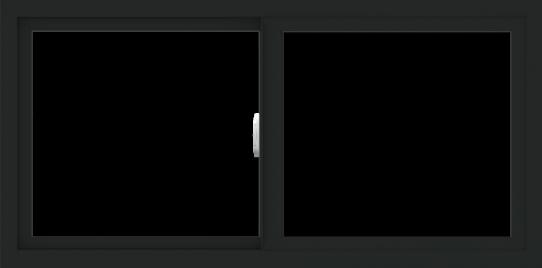 WDMA 48x24 (47.5 x 23.5 inch) Vinyl uPVC Black Slide Window without Grids Interior