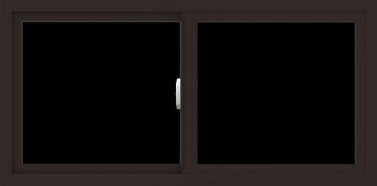 WDMA 48x24 (47.5 x 23.5 inch) Vinyl uPVC Dark Brown Slide Window without Grids Interior