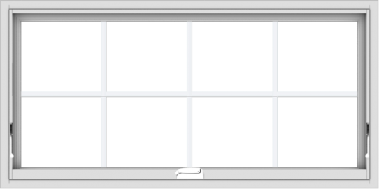WDMA 48x24 (47.5 x 23.5 inch) White Vinyl uPVC Crank out Awning Window with Colonial Grids Interior